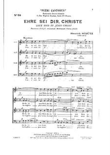 St. Matthew Passion. Christ to You Be Honor, SWV 479: St. Matthew Passion. Christ to You Be Honor by Heinrich Schütz