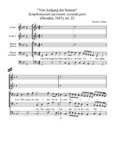 Von Aufgang der Sonnen, SWV 362: Von Aufgang der Sonnen by Heinrich Schütz