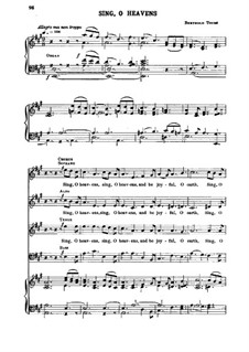 Sing, o Heavens: Sing, o Heavens by Berthold Tours