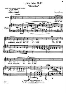 Hjertets Melodier (Melodies of the Heart), Op.5: No.3 Jeg elsker Dig (I Love Thee) in D Major by Edvard Grieg