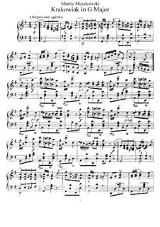 Four Polish Folk Dances, Op.55: No.4 Krakowiak, for Piano by Moritz Moszkowski