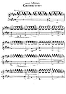 Rocky Islands, Op.10: No.22 La gondoliere by Anton Rubinstein