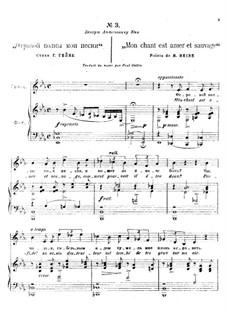 Romances : No.3 Mon chant est amer et sauvage by Alexander Borodin