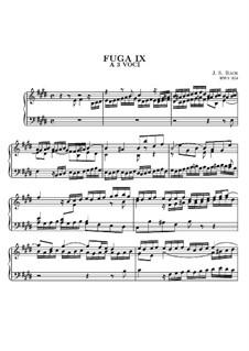 Prelude and Fugue No.9 in E Major, BWV 854: For keyboard by Johann Sebastian Bach