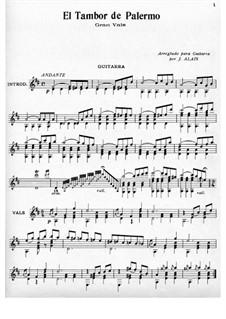 El Tambor de Palermo: For guitar by Juan Alais