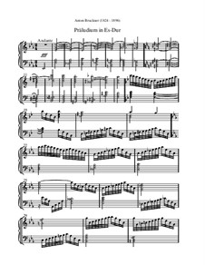 Prelude in E Flat Major: Prelude in E Flat Major by Anton Bruckner