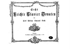Six Sonatas for Piano, H 162, 163, 180-183, Wq 53: For a single performer by Carl Philipp Emanuel Bach