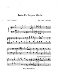 Louisville Legion March: For piano by Carrie F. Matfeldt