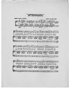 Afterwards: In B Flat Major by John W. Mullen
