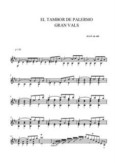 El Tambor de Palermo: For guitar (high quality sheet music) by Juan Alais
