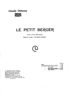 No.5 The Little Shepherd: For violin and piano by Claude Debussy