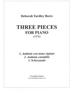 Three Pieces for Piano (1976): Three Pieces for Piano (1976) by Deborah Yardley Beers