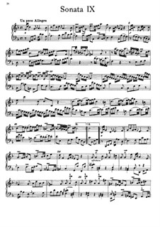 Sonata for Keyboard in F Major, BR A 11, F 6: For a single performer by Wilhelm Friedemann Bach