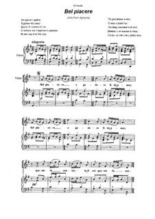 Agrippina, HWV 6: Bel piacere by Georg Friedrich Händel
