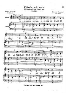 Vittoria, mio core: C Major by Giacomo Carissimi