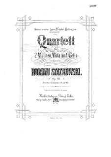 String Quartet in F Major, Op.10: Full score by Roman Statkowski