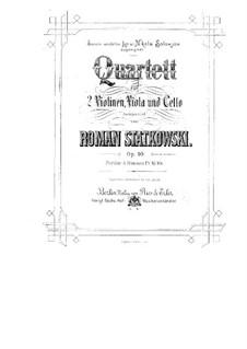 String Quartet in F Major, Op.10: Parts by Roman Statkowski