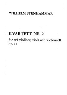 String Quartet No.2 in C Minor, Op.14: Full score by Wilhelm Stenhammar