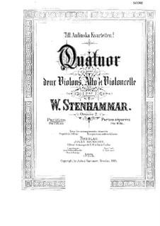 String Quartet No.1 in C Major, Op.2: Full score by Wilhelm Stenhammar