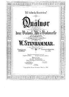 String Quartet No.1 in C Major, Op.2: Parts by Wilhelm Stenhammar