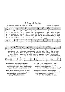 A Song of the Sea: A Song of the Sea by Unknown (works before 1850)
