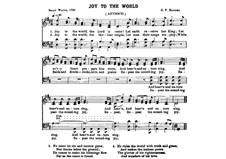 Joy to the World: Vocal score by Georg Friedrich Händel