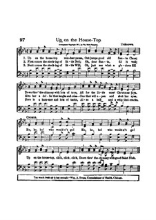 Up on the House Top: For mixed choir and piano by Benjamin Russel Hanby
