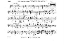 The Swiss Family. Aria, for Guitar: The Swiss Family. Aria, for Guitar by Joseph Weigl
