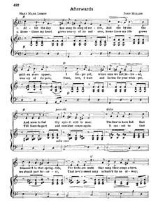 Afterwards: In C Major by John W. Mullen