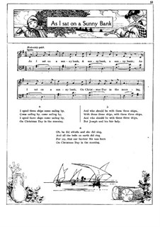 As I Sat on a Sunny Bank: For voice and piano by folklore
