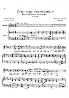 Danza danza fanciulla gentile: Piano-vocal score by Francesco Durante