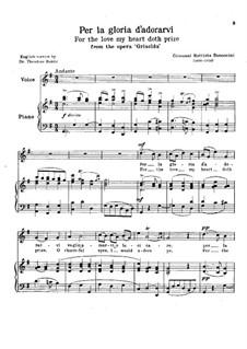 Griselda: Per la gloria d'adorarvi (Italian and English Texts) by Giovanni Battista Bononcini
