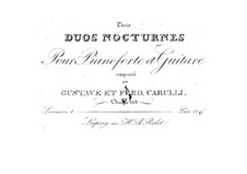 Three Nocturnes for Guitar and Piano, Op.189: Duet No.1 by Ferdinando Carulli