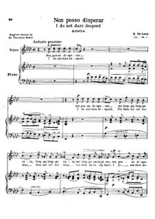 Non posso disperar: In F Minor by Sergio de Luca