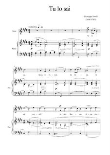 Tu lo sai (You Know): In E Major by Giuseppe Torelli