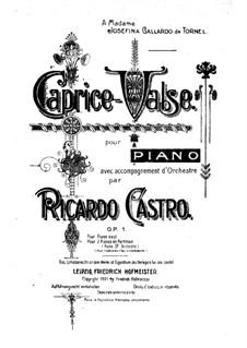 Caprice-Valse, Op.1: Caprice-Valse by Ricardo Castro