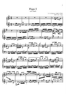 Selected Pieces: Fugue No.1 in C Major by Johann Sebastian Bach
