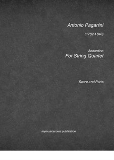 Andantino for String Quartet: Andantino for String Quartet by Niccolò Paganini