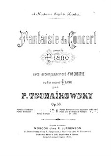Concert Fantasia for Piano and Orchestra, TH 61 Op.56: Movement I by Pyotr Tchaikovsky