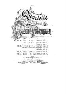 String Quartet No.5 in F Minor, Op.37: Parts by Robert Volkmann