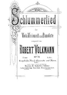 Schlummerlied for Piano Trio, Op.76: Schlummerlied for Piano Trio by Robert Volkmann