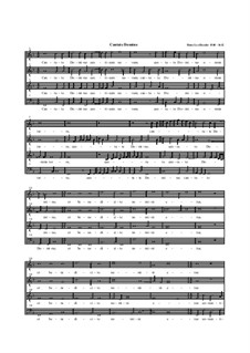 Cantate Domino: Vocal score by Hans Leo Hassler