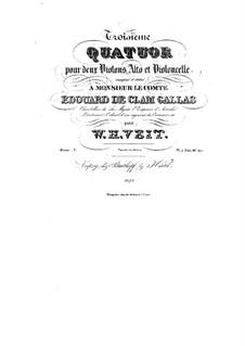 String Quartet No.3 in E Flat Major, Op.7: String Quartet No.3 in E Flat Major by Václav Veit
