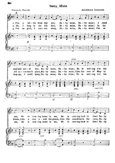 Baby Mine: For voice and piano by Archibald Johnston