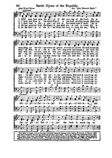 The Battle Hymn of the Republic: For mixed choir and piano by Unknown (works before 1850)