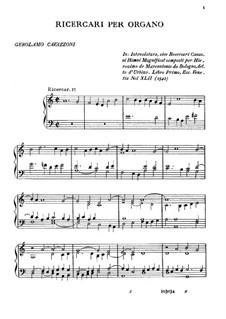 Ricercari per Organo: Ricercari per Organo by Girolamo Cavazzoni