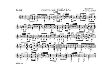 Sonata for Piano No.12 in A Flat Major, Op.26: Movement I. Andante, for guitar by Ludwig van Beethoven