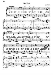 Ben Bolt: For voice and piano (F Major) by Nelson Kneass