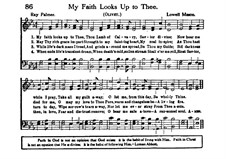 My Faith Looks Up to Thee: Vocal score by Lowell Mason