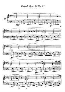 No.13 in F Sharp Major: For piano by Frédéric Chopin